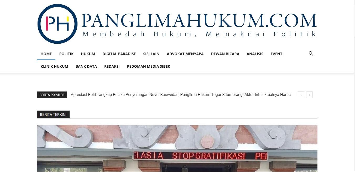 Website Panglima Hukum