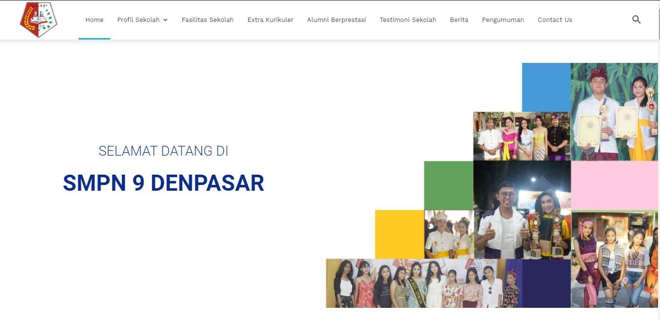 Website SMPN 9 Denpasar