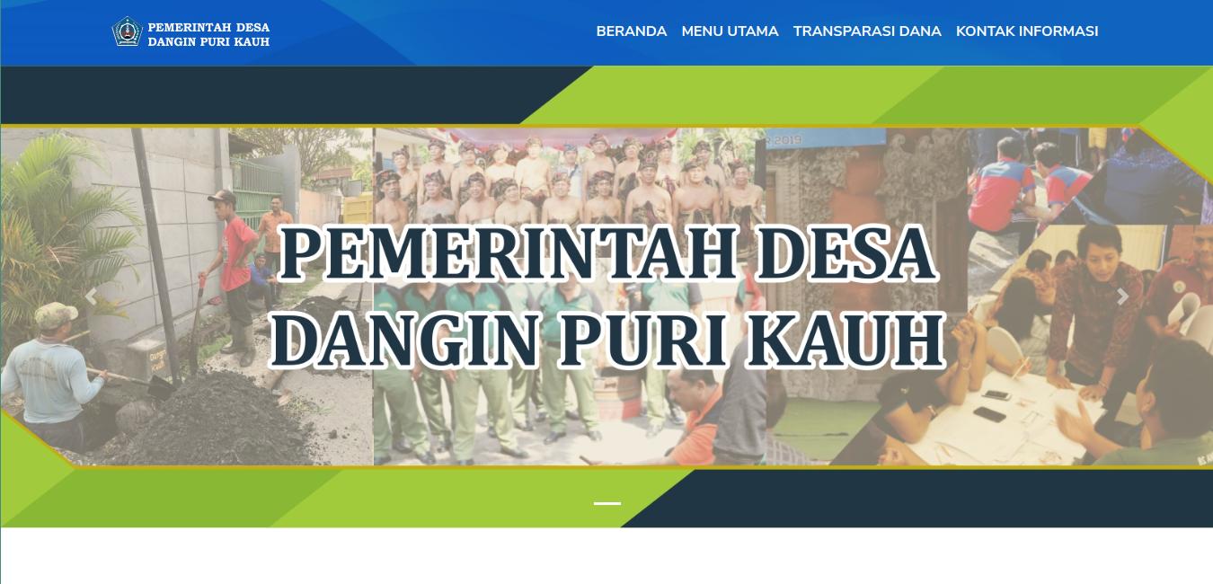 Website Desa Dangri Kauh